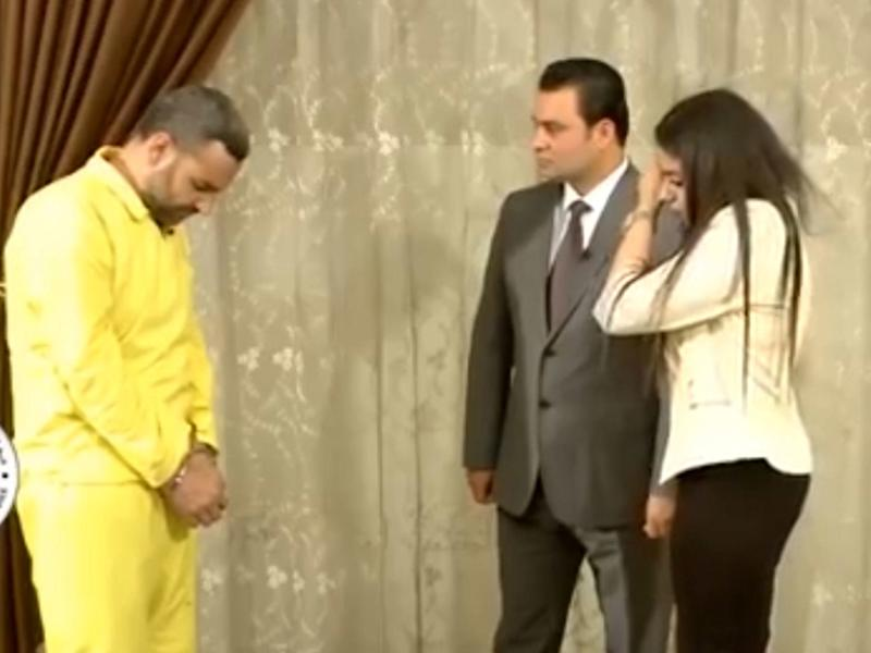 Abu Hamam refuses to meet the gaze of the woman he beat and raped on a daily basis: Iraqi Media Network