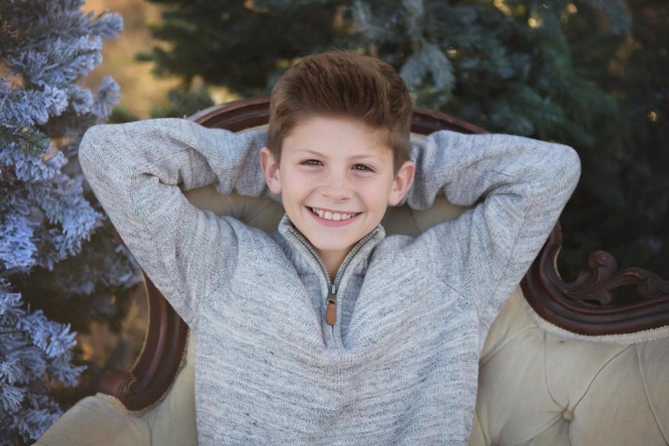 Pictured is Hayden Hunstable, the 12-year-old from Texas who took his life, sparking an online campaign advocating for conversations around mental health.