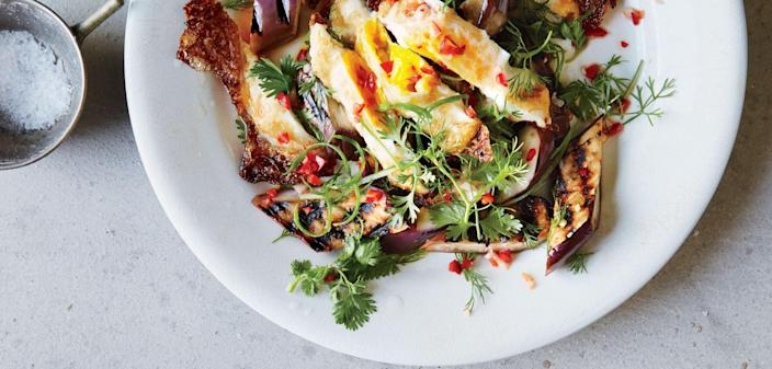 """<a href=""""https://www.bonappetit.com/recipe/grilled-eggplant-with-fresh-hot-sauce-and-crispy-eggs?mbid=synd_yahoo_rss"""" rel=""""nofollow noopener"""" target=""""_blank"""" data-ylk=""""slk:See recipe."""" class=""""link rapid-noclick-resp"""">See recipe.</a>"""
