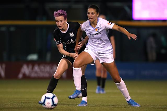 The NWSL will be missing some major names with the Challenge Cup. (Photo by Abbie Parr/Getty Images)