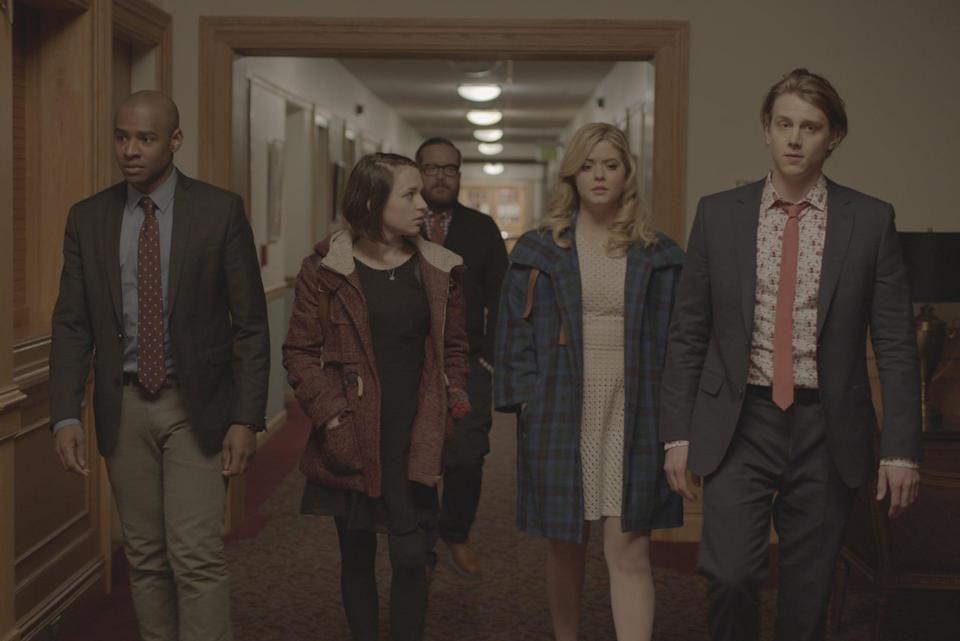 """<p>After their high school is threatened to be shut down, a group of students hatch a wild plan to raise the money needed to keep their school afloat.</p> <p>Watch <a href=""""https://www.netflix.com/title/80097725"""" class=""""link rapid-noclick-resp"""" rel=""""nofollow noopener"""" target=""""_blank"""" data-ylk=""""slk:Coin Heist""""><strong>Coin Heist</strong></a> on Netflix now.</p>"""