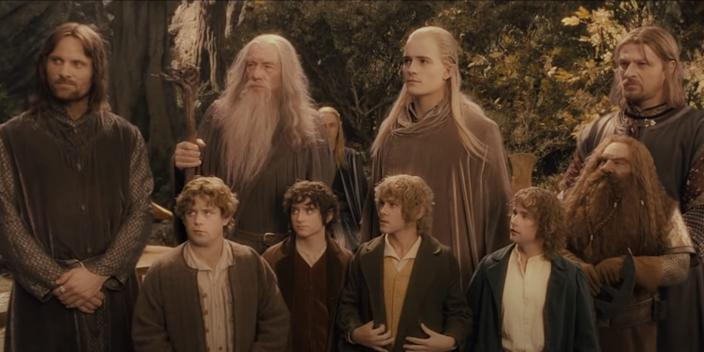 """The Fellowship together for the first time in """"The Lord of the Rings: The Fellowship of the Ring."""" <p class=""""copyright"""">New Line Cinema</p>"""