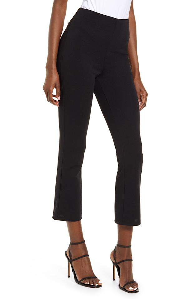 """<p>These comfy <a href=""""https://www.popsugar.com/buy/Leith-Knit-Slim-Pants-559042?p_name=Leith%20Knit%20Slim%20Pants&retailer=shop.nordstrom.com&pid=559042&price=59&evar1=fab%3Aus&evar9=41975953&evar98=https%3A%2F%2Fwww.popsugar.com%2Ffashion%2Fphoto-gallery%2F41975953%2Fimage%2F46559417%2FLeith-Knit-Slim-Pants&list1=shopping%2Cfall%20fashion%2Cfall%2Csummer%2Cspring%20fashion%2Cstyle%20tips%2Csummer%20fashion&prop13=mobile&pdata=1"""" rel=""""nofollow"""" data-shoppable-link=""""1"""" target=""""_blank"""" class=""""ga-track"""" data-ga-category=""""Related"""" data-ga-label=""""https://shop.nordstrom.com/s/leith-knit-slim-pants/5466822/lite?origin=coordinating-5466822-0-2-PDP_AV.MPDP_AV_INSIZE-recbot-also_viewed_graph&amp;recs_placement=PDP_AV.MPDP_AV_INSIZE&amp;recs_strategy=also_viewed_graph&amp;recs_source=recbot&amp;recs_page_type=product&amp;recs_seed=5433797"""" data-ga-action=""""In-Line Links"""">Leith Knit Slim Pants</a> ($59) are great for the office and beyond.</p>"""