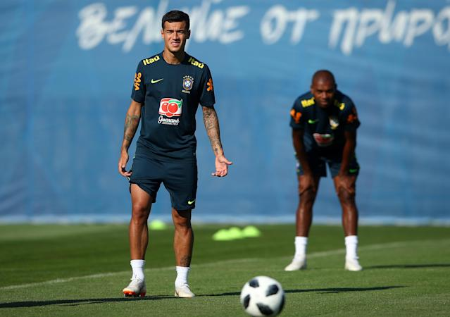 Soccer Football - World Cup - Brazil Training - Brazil Training Camp, Sochi, Russia - June 24, 2018 Brazil's Philippe Coutinho during training REUTERS/Hannah McKay