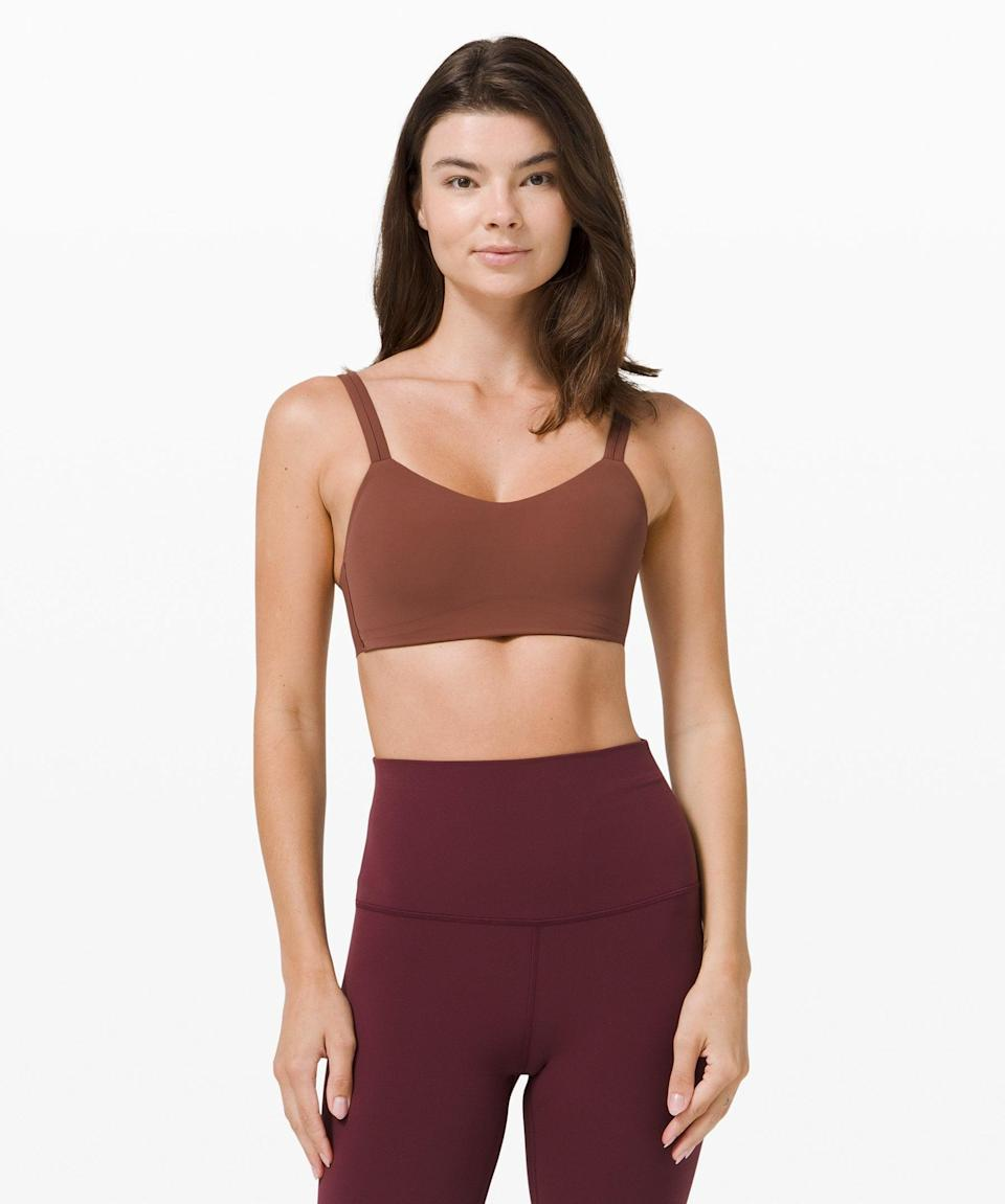 """<h2>Lululemon Like a Cloud Bra</h2><br>""""When I tell you that this sports bra is the comfiest one I've ever worn, I mean it. It literally is like a cloud, hence its appropriate name. I feel great working out in it, running errands in it, and especially laying around the house in it. It's truly everything you could need in a piece of clothing."""" <em>— EG</em><br><br><strong>lululemon</strong> Like a Cloud Bra, $, available at <a href=""""https://go.skimresources.com/?id=30283X879131&url=https%3A%2F%2Fshop.lululemon.com%2Fp%2Fwomen-sports-bras%2FLike-a-Cloud-Bra%2F_%2Fprod9960745%3Fcolor%3D0001"""" rel=""""nofollow noopener"""" target=""""_blank"""" data-ylk=""""slk:lululemon"""" class=""""link rapid-noclick-resp"""">lululemon</a>"""