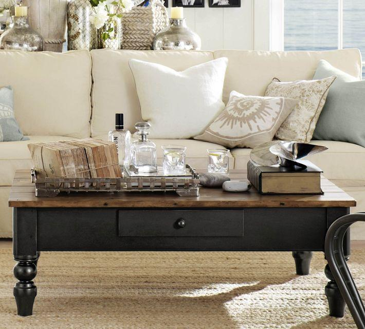 "<div class=""caption-credit""> Photo by: potterybarn.com</div><b>Out: Coffee Tables.</b> Last month, Brie Dyas, a blogger at Stylist Home, declared the coffee table a thing of the past. Dyas noticed an absence of the classic living room staple in friends' homes as well as in furniture store stock rooms. ""Instead, there are small side tables , cocktail tables or trunks that multi-tasked as storage,"" she writes. Blame it on space, or lack of it."