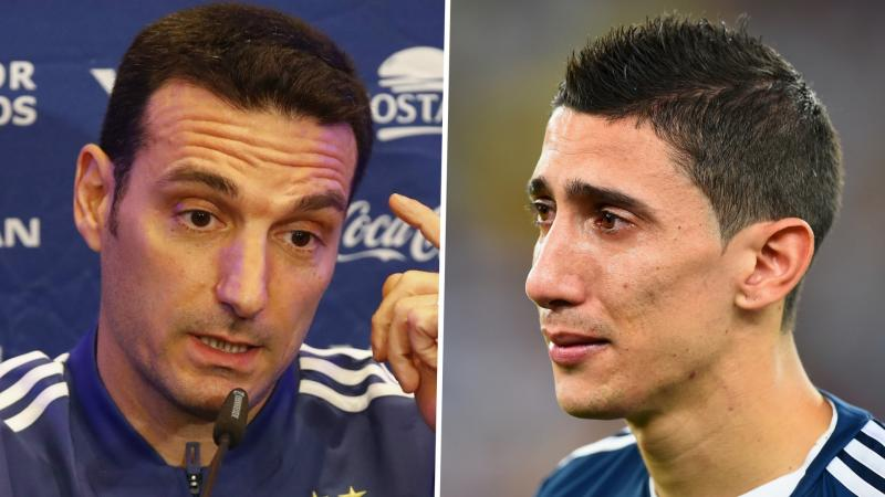 Scaloni tells Di Maria to 'support from the outside' in response to PSG star's Argentina snub rant