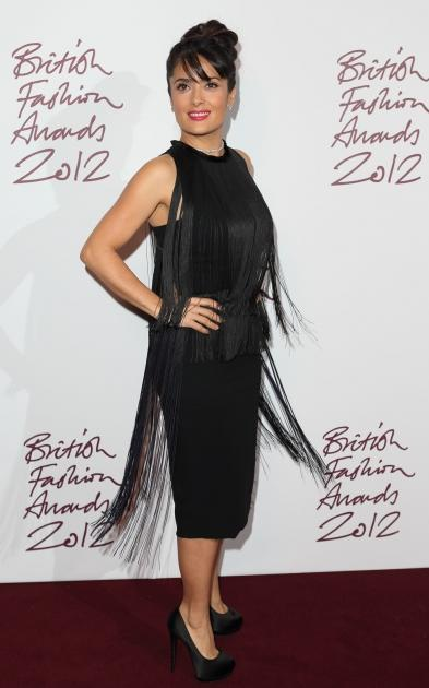 Salma Hayek attends the British Fashion Awards 2012 at The Savoy Hotel in London on November 27, 2012  -- Getty Premium