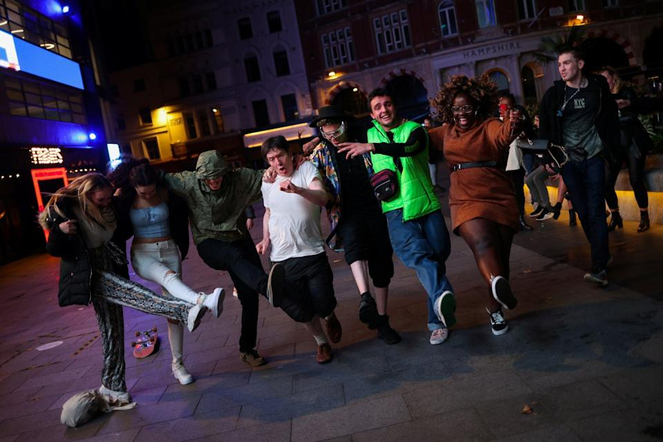 People dance and socialise in Soho: REUTERS