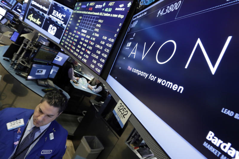 Declining sales force, revenue send Avon shares tumbling