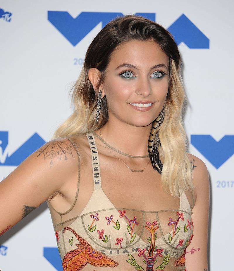 INGLEWOOD, CA - AUGUST 27: Paris Jackson poses in the press room at the 2017 MTV Video Music Awards at The Forum on August 27, 2017 in Inglewood, California. (Photo by Jason LaVeris/FilmMagic)