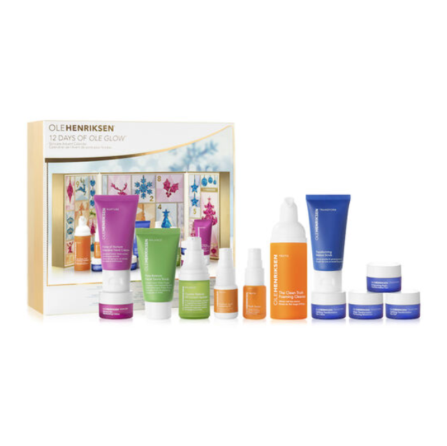 "<p><strong>olehenriksen.com</strong></p><p><strong>$28</strong></p><p><a class=""link rapid-noclick-resp"" href=""https://go.redirectingat.com?id=74968X1596630&url=https%3A%2F%2Fwww.olehenriksen.com%2Faffiliate%2F12-days-of-ole-glow-advent-calendar%2F20601.html&sref=https%3A%2F%2Fwww.townandcountrymag.com%2Fstyle%2Fbeauty-products%2Fnews%2Fg2919%2Fbeauty-advent-calendars%2F"" rel=""nofollow noopener"" target=""_blank"" data-ylk=""slk:SHOP NOW"">SHOP NOW</a></p><p><strong>Best For: </strong>Your sister who craves dewy, glowing ""glass skin""</p><p><strong>What's Inside: </strong>A selection of Ole Henriksen's skin-smoothing serums and moisturizers, plus a scrub, face oil, eye creams, and more. </p>"