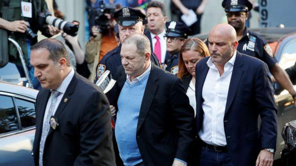 PHOTO: Film producer Harvey Weinstein arrives at the 1st Precinct in Manhattan in New York, May 25, 2018. (Mike Segar/Reuters)