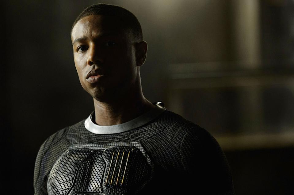 Michael B. Jordan as Johnny Storm in Trank's 2015 version of <em>Fantastic Four</em>. (Photo: Ben Rothstein/TM and Copyright ©20th Century Fox Film Corp. All rights reserved./courtesy Everett Collection)