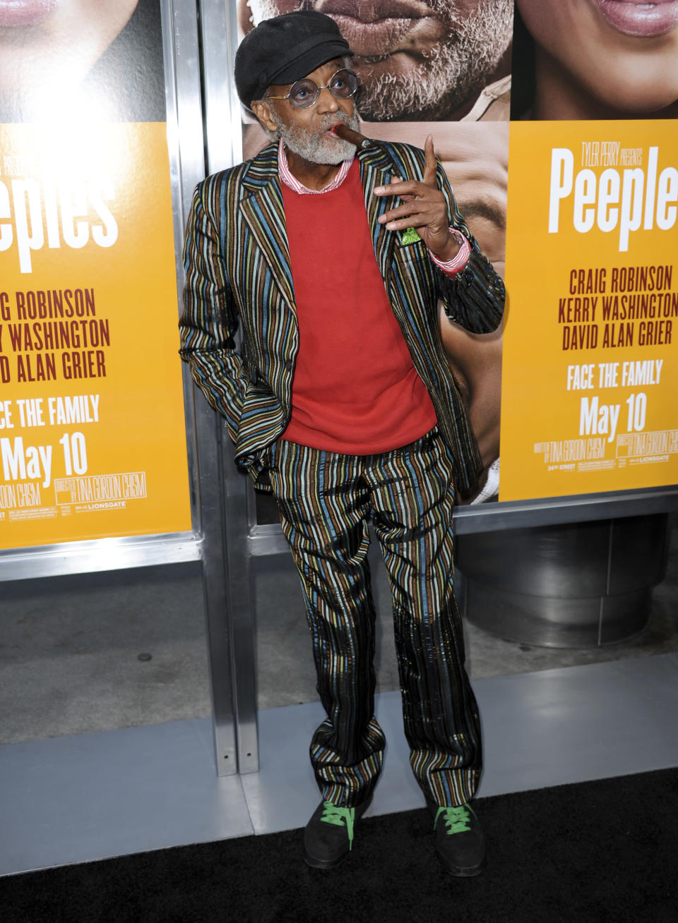 """FILE - Melvin Van Peebles arrives at the world premiere of """"Peeples"""" at the ArcLight Hollywood on Wednesday, May 8, 2013 in Los Angeles. Van Peebles, a Broadway playwright, musician and movie director whose work ushered in the """"blaxploitation"""" films of the 1970s, has died at age 89. His family said in a statement that Van Peebles died Tuesday night, Sept. 21, 2021, at his home. (Photo by Richard Shotwell/Invision/AP, File)"""