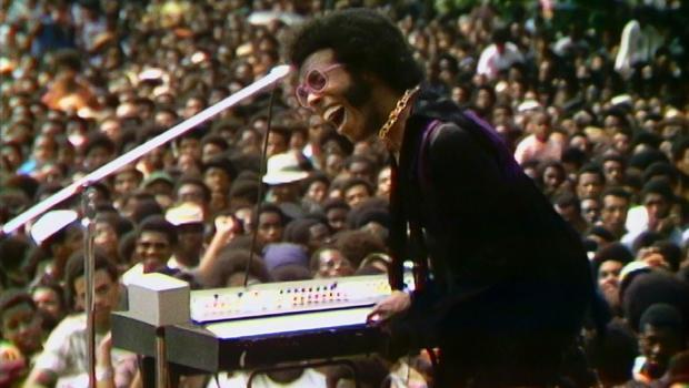 Sly Stone performs at the 1969 Harlem Cultural Festival, as seen in the documentary