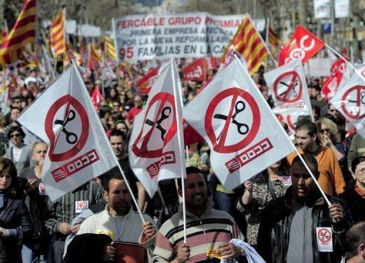 Demonstrations sweep Spain to protest labour reforms