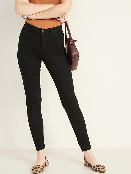<p>If you've been looking for classic black jeans, these <span>Mid-Rise Black Rockstar Super Skinny Jeans</span> ($18, originally $35) are your chance.</p>