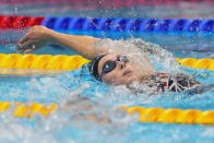 Alex Walsh, of the United States, swims in a women's 200-meter individual medley semifinal at the 2020 Summer Olympics, Tuesday, July 27, 2021, in Tokyo, Japan. (AP Photo/Petr David Josek)