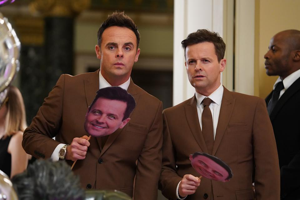 Ant and Dec's 'Men In Brown' sketch about an alien virus upset some viewers. (ITV)