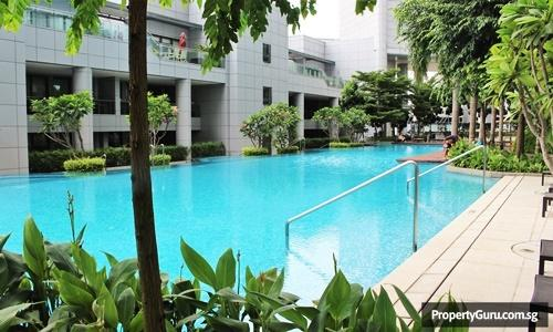 Swimming pool at Concourse Skyline