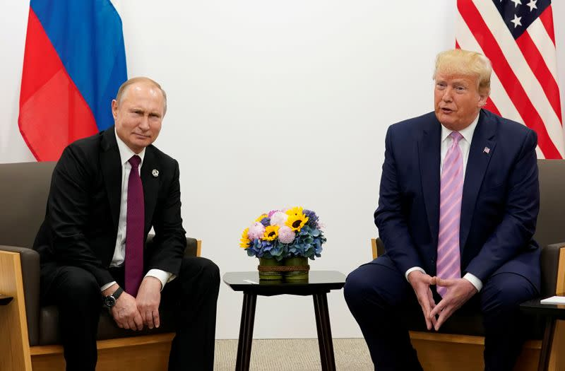 Trump says he never confronted Putin about Russia bounty reports - Axios
