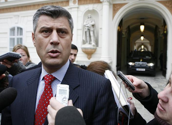 Hashim Thaci, former leader of the Albanian Kosovo Liberation Army, seen in Vienna, in 2007 (AFP Photo/Dieter Nagl)