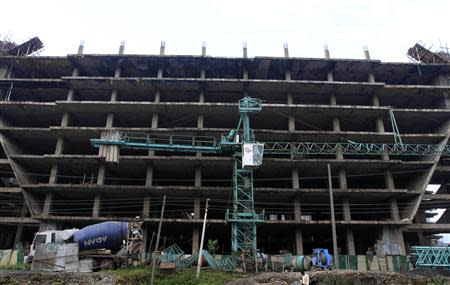 A building is seen under construction in Ethiopia's capital Addis Ababa