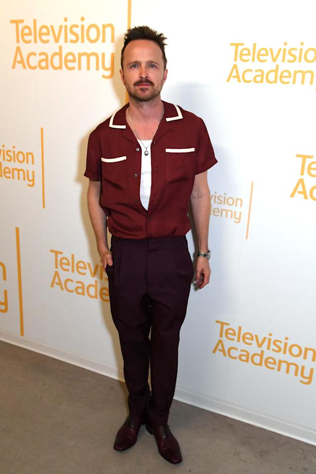 <p>WHAT: Todd Snyder shirt</p> <p>WHERE: A <em>Westworld</em> screening in Los Angeles</p> <p>WHEN: March 6, 2020</p> <p>WHY: Anyone can pull off a retro shirt and a gold chain, but Paul is especially convincing.</p>