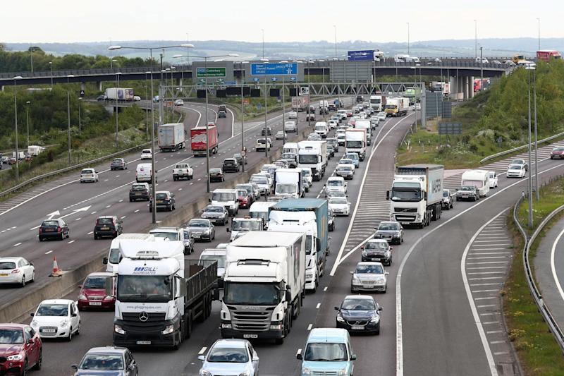 Bank Holiday: Traffic queues on the M25: PA