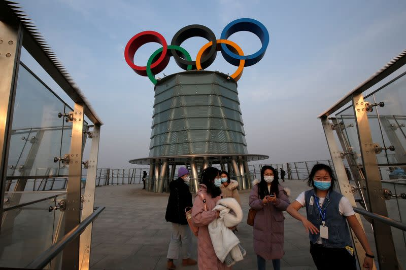 An organised media tour to the Olympic Tower