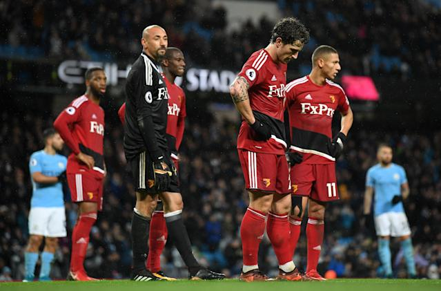 No New Year Cheer: Watford suffered two defeats in the space of a few days.