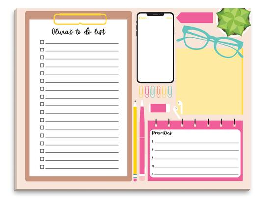 The Stationery Studio Pop of Color Desktop Weekly Scheduler