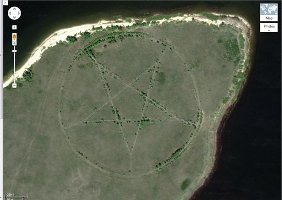 Mysterious Pentagram on Google Maps Explained