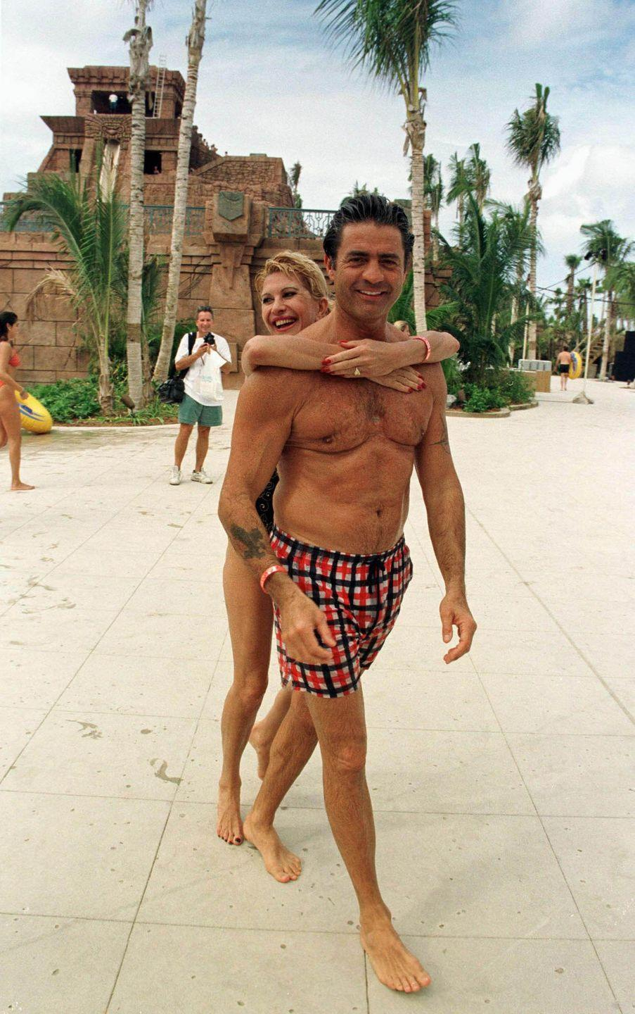 <p>Ivana Trump and Roffredo Gaetani vacationing at Paradise Island, Bahamas. </p><p>Other celebrity visitors this year: Cindy Crawford, Yasmine Bleet.</p>
