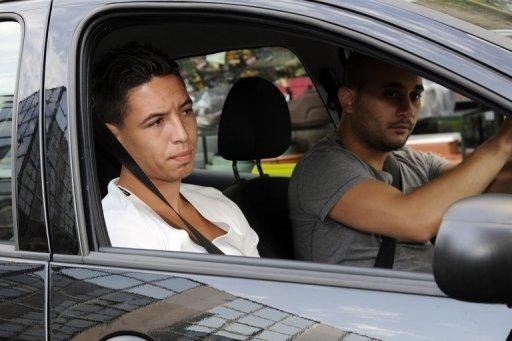 "Samir Nasri was punished for shouting, ""Shut your mouth"" to television cameras"