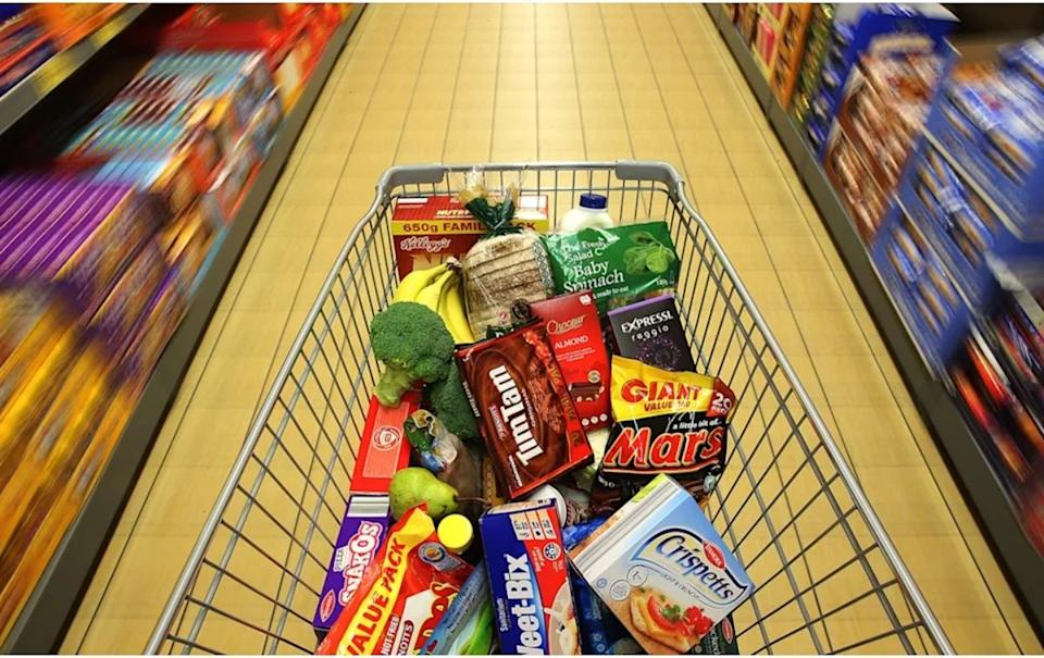 Aldi products in a trolley. Source: Getty Images