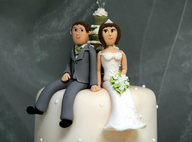 Bride and groom cake decorations