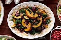 """<p>This salad of roasted veggies and farro is Thanksgiving-side good, but weeknight-easy.</p><p><strong><a href=""""https://www.countryliving.com/food-drinks/recipes/a36666/roasted-beet-and-squash-salad/"""" rel=""""nofollow noopener"""" target=""""_blank"""" data-ylk=""""slk:Get the recipe"""" class=""""link rapid-noclick-resp"""">Get the recipe</a>.</strong> </p><p><a class=""""link rapid-noclick-resp"""" href=""""https://www.amazon.com/dp/B00282JL7G?tag=syn-yahoo-20&ascsubtag=%5Bartid%7C10050.g.4695%5Bsrc%7Cyahoo-us"""" rel=""""nofollow noopener"""" target=""""_blank"""" data-ylk=""""slk:SHOP SHEET PANS"""">SHOP SHEET PANS</a></p>"""