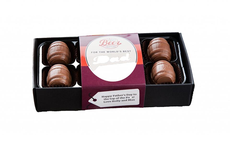 """<p><a rel=""""nofollow noopener"""" href=""""https://www.notonthehighstreet.com/thechocolatelibrary/product/world-s-best-dad-craft-beer-chocolates"""" target=""""_blank"""" data-ylk=""""slk:Not On The High Street, £12"""" class=""""link rapid-noclick-resp"""">Not On The High Street, £12</a> </p>"""