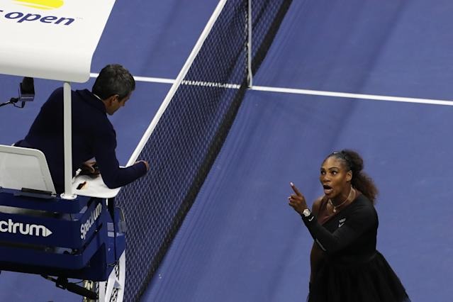 A New York Times report on Friday found that men have been penalized more than 1,500 times in the past two decades at Grand Slam events, while women have been fined just 535 times. (Getty Images)