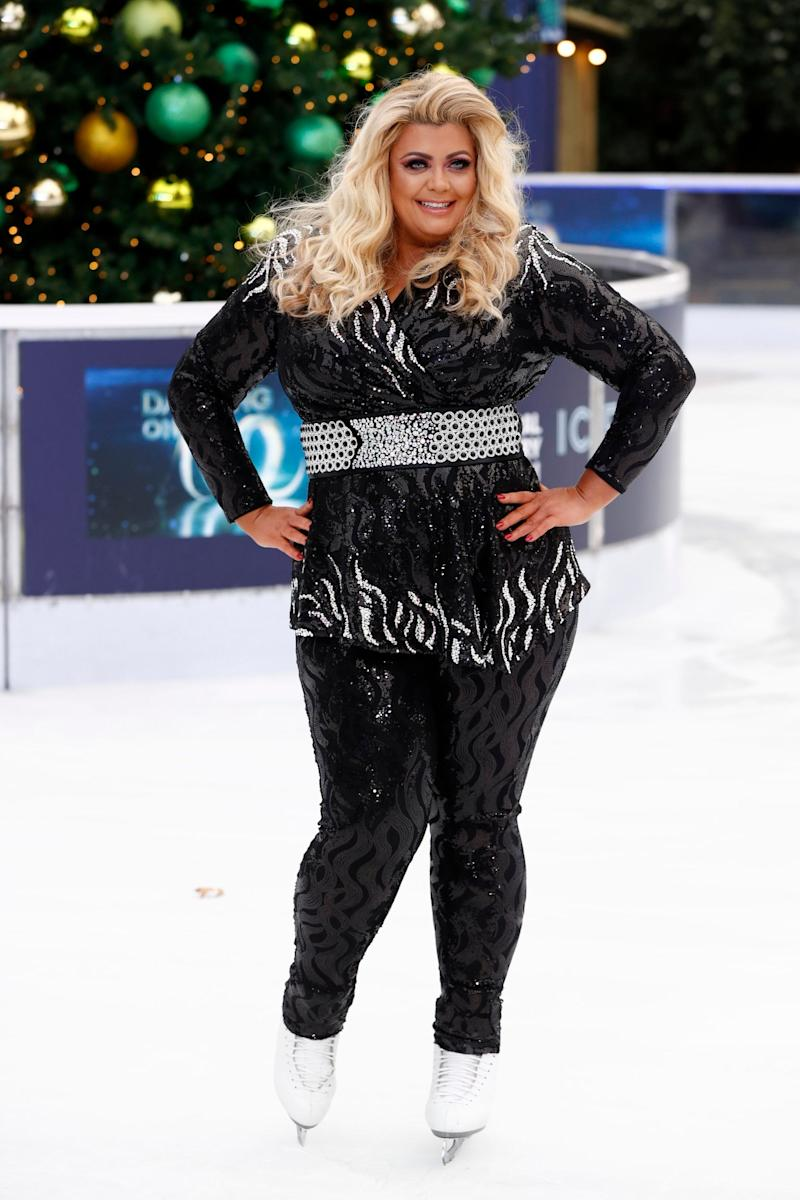 Taking to the ice: The GC practising for her Dancing on Ice stint (Getty Images)