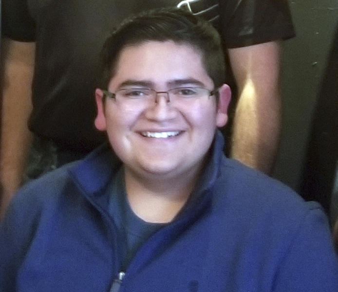 This undated photo provided by Rachel Short shows Kendrick Castillo, who was killed during a shooting at the STEM School Highlands Ranch on Tuesday, May 7, 2019, in Highlands Ranch, Colo. (Rachel Short via AP)
