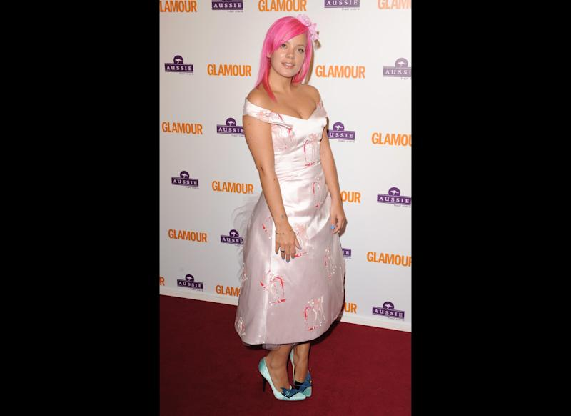 <strong>2008</strong> Lily arriving at <em>The Glamour Women of the Year Awards</em>