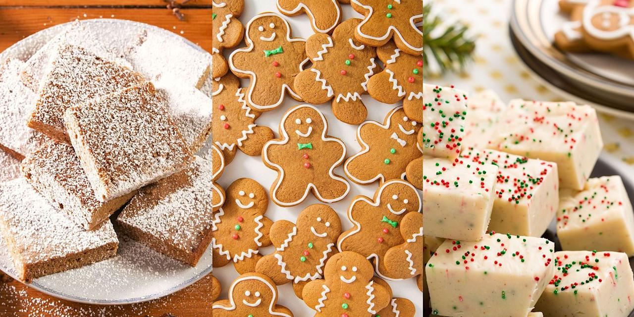 """<p>You can't beat those deliciously spicy but sweet flavours that come with gingerbread. And at Christmas, those flavours taste 10x better. But we should add that as much as we love a traditional <a href=""""https://www.delish.com/uk/cooking/recipes/a34104769/holiday-gingerbread-recipe/"""" target=""""_blank"""">Gingerbread</a>, we're also big on <a href=""""https://www.delish.com/uk/cooking/recipes/a34104597/gingerbread-blondies-recipe/"""" target=""""_blank"""">Gingerbread Blondies</a> and even <a href=""""https://www.delish.com/uk/cooking/recipes/a30240333/gingerbread-cheesecake-recipe/"""" target=""""_blank"""">Gingerbread Cheesecakes</a> (they're as delicious as they sound). So, if you fancy trying your hand at some fun gingerbread recipes, we've got you covered. </p>"""