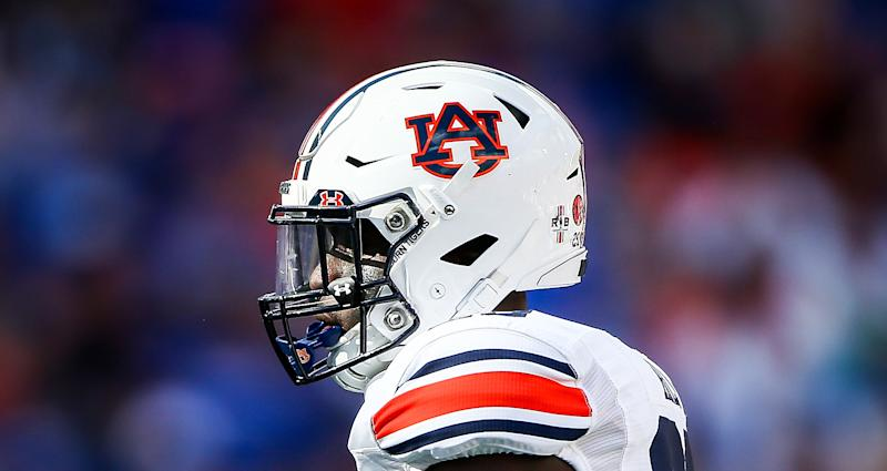 Auburn has not changed the logo on its football helmets. Maybe it never will. (Photo by James Gilbert/Getty Images)