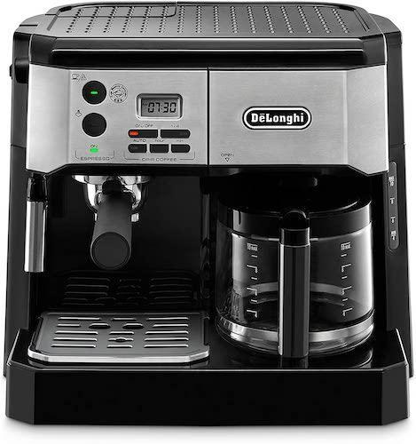 De'Longhi All-in-One Combination Drip Coffee Maker + Espresso Machine with Milk Frother