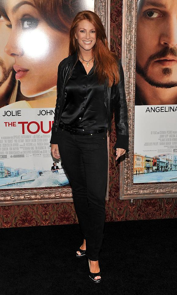 """<a href=""""http://movies.yahoo.com/movie/contributor/1800020730"""">Angie Everhart</a> attends the New York premiere of <a href=""""http://movies.yahoo.com/movie/1810149482/info"""">The Tourist</a> on December 6, 2010."""