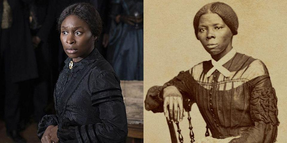 """<p>The Tony-winning actress got very into character to channel the historical figure. """"There were definitely days that I know it wasn't just me,"""" said Erivo in an interview with <em><a href=""""https://abcnews.go.com/Entertainment/wireStory/cynthia-erivo-harriet-tubman-66676313"""" rel=""""nofollow noopener"""" target=""""_blank"""" data-ylk=""""slk:ABC News"""" class=""""link rapid-noclick-resp"""">ABC News</a></em>. """"It felt like she was there.""""</p>"""