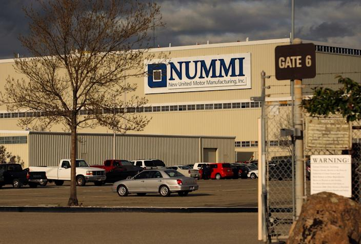 An undated photo of the New United Motor Manufacturing (NUMMI) plant.